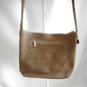 The Sak Brown Crocheted Shoulder Bag